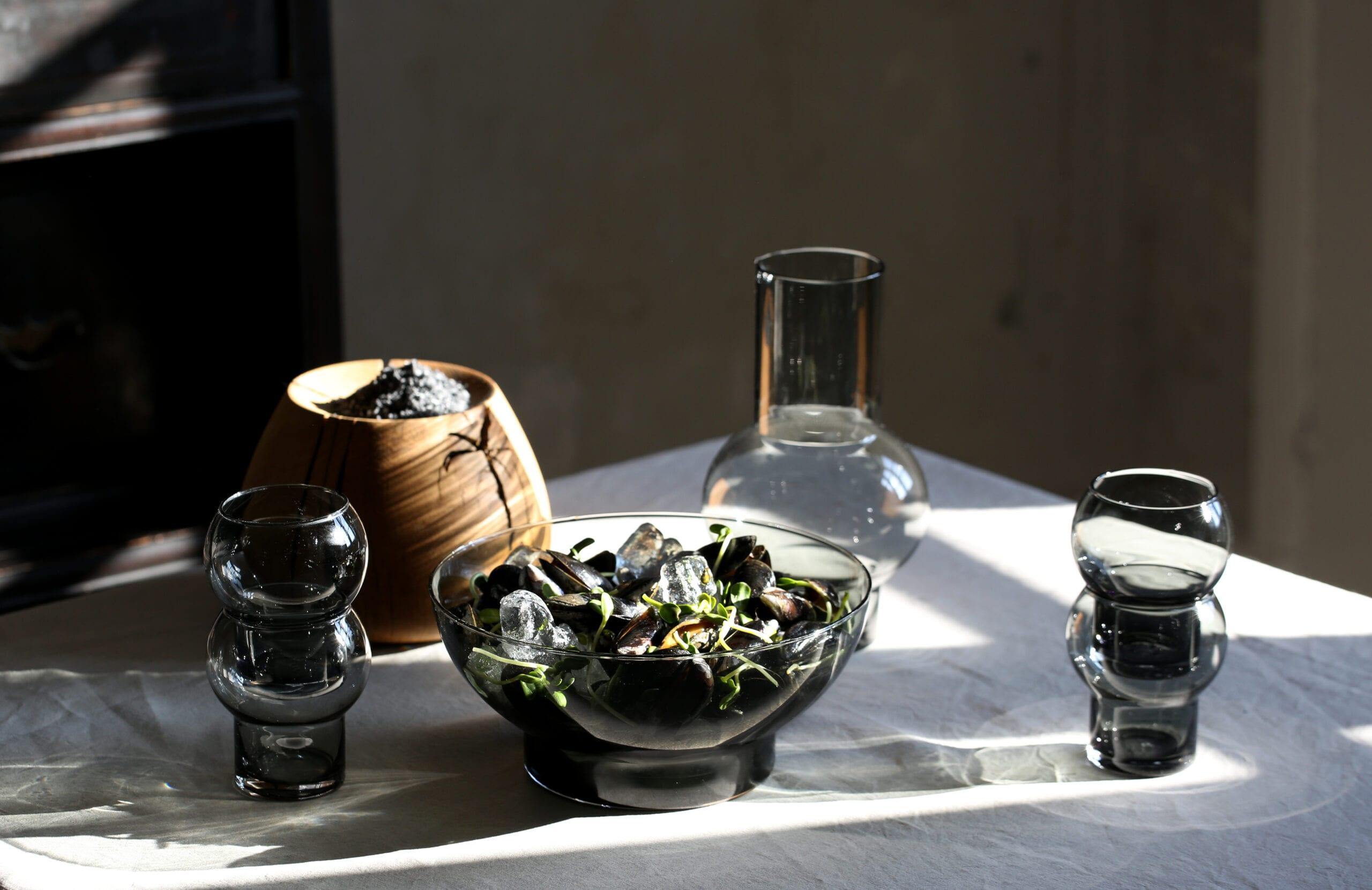 Glas skål kande Ro collection boligtilbehør
