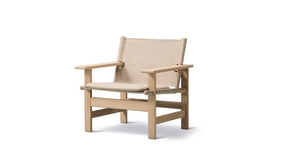 Lærredsstolen Børge Mogensen Fredericia indbo