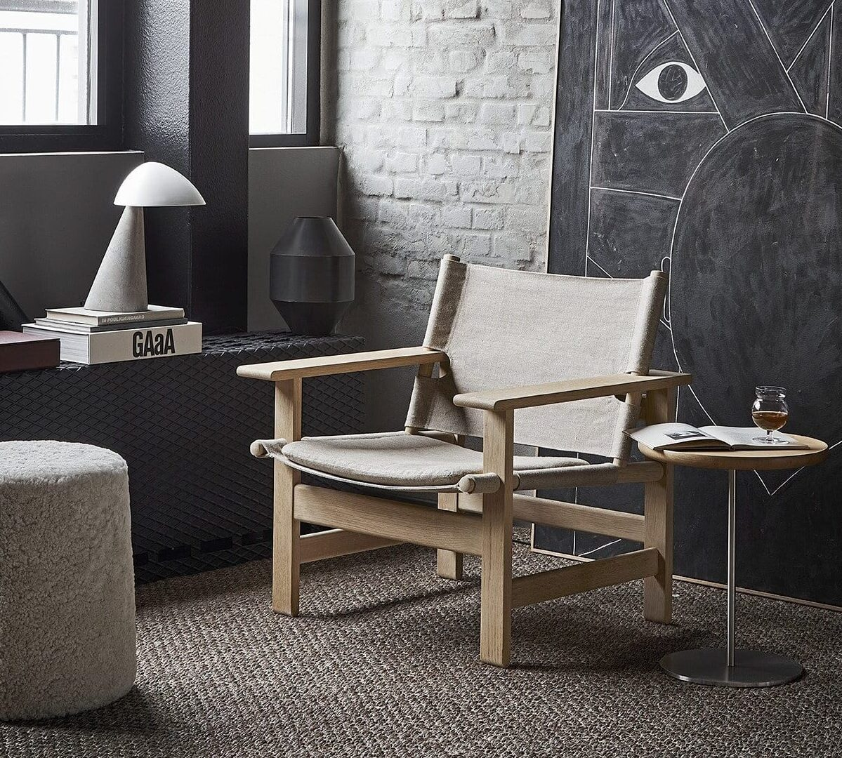 The Canvas chair Børge Mogensen Fredericia