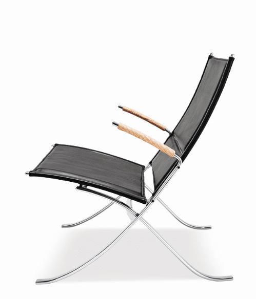 Loungestol FK82 X-chair Fabricius/Kastholm Lange Production