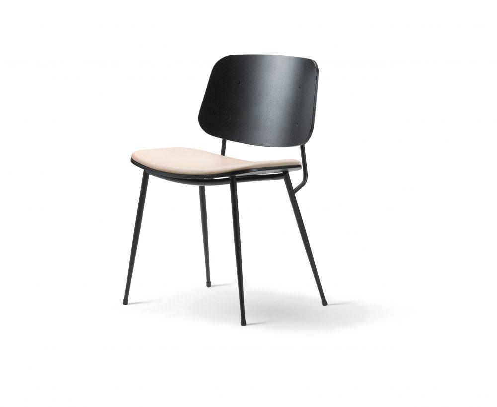 Søborg stol stålstel 3060 Børge Mogensen Fredericia indbo